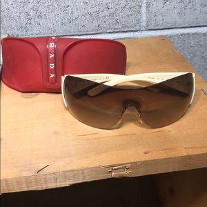 Cream Prada Sunglasses SPR22M With Case